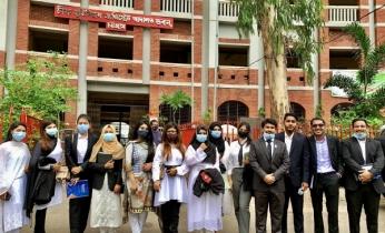 আদালত ভবন পরিদর্শনে সিআইইউর স্কুল অব ল'র শিক্ষার্থীরা