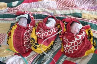 লংগদুতে একসঙ্গে ৩ ছেলে সন্তানের জন্ম