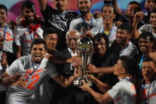 সাফ ফুটবলের শ্রেষ্ঠত্ব ভারতের
